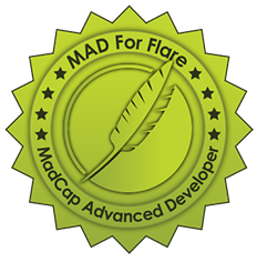 Logo indicating that Alison is certified as a Madcap Advanced Developer