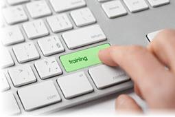 Pressing a 'training' key on a computer keyboard